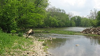 Wabash River - Forks of the Wabash at Huntington