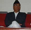 Former Primer Minister of Nepal, Ser Bahadur Deuba at book release program in Kathmandu.jpg