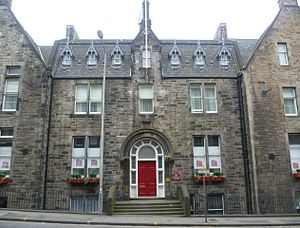 Edinburgh Royal Maternity Hospital and Simpson Memorial Maternity Pavilion - The original hospital building at 79 Lauriston Place has been converted into a hotel.