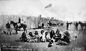Fort Calgary - North-West Mounted Police, Fort Calgary, 1878