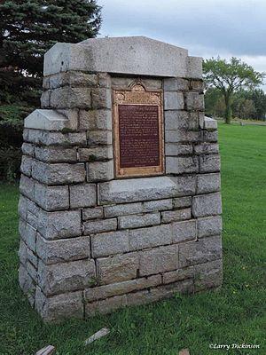Fort Nashwaak - Image: Fort Nashwaak Monument