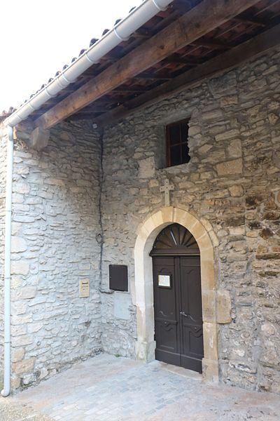 Fos (Hérault) - église Saint-Jean - portail