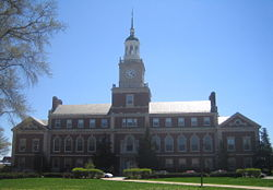 Founders Library is an iconic building on the Howard University campus that has been declared a National Historic Landmark.