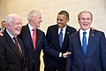 Four U.S. presidents in 2013.jpg