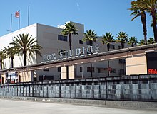 Entrance to the studio lot of 20th Century Fox in Century City, California