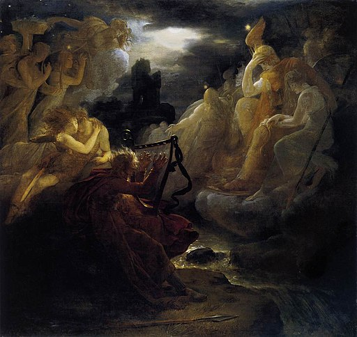 François Gérard - Ossian Awakening the Spirits on the Banks of the Lora with the Sound of his Harp - WGA08596