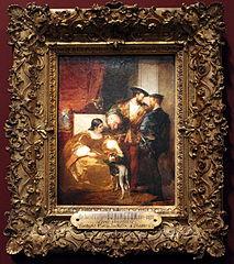 François Ier, Charles Quint et la duchesse d'Étampes by Richard Parkes Bonington
