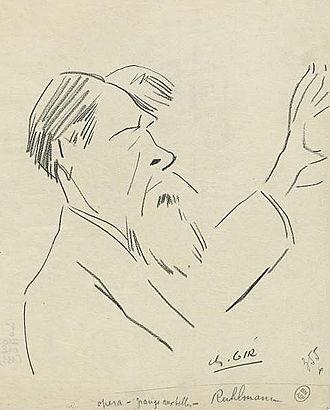 François Ruhlmann - François Ruhlmann, caricature by Charles Gir