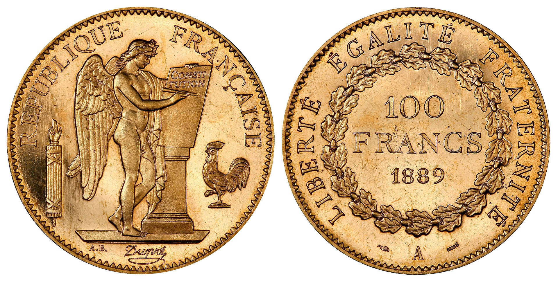 french angel gold coin
