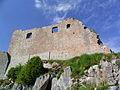 France Arriege Montsegur Chateau Donjon Exterieur.JPG