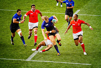 2011 Rugby World Cup Pool A - Image: France vs Tonga 2011 RWC (1)