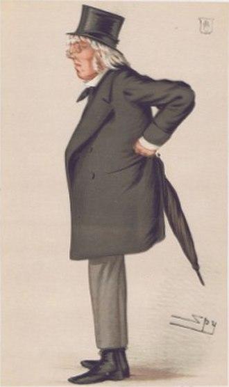 """Francis Hastings Doyle - """"Poetry"""" Doyle as caricatured by Spy (Leslie Ward) in Vanity Fair, November 1877"""