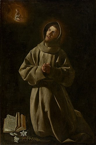 Anthony of Padua - Anthony of Padua by Francisco de Zurbarán, 1627–1630
