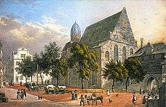 Frankfurt Am Main-Leonhardskirche und tor von der Stadtseite-Delkeskamp-vor 1835.jpg
