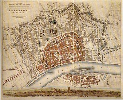 Englischer Stadtplan 1848/50