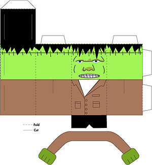 Paper toys - Layout for a paper toy