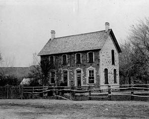 Mesquite, Nevada - Home of Mormon pioneer Franklin S. Leavitt, c. 1900