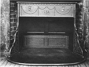 Franklin stove - A Franklin stove