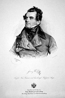 Franz Wild, Lithographie von Josef Kriehuber, 1841 (Quelle: Wikimedia)