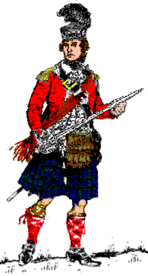 71st Regiment of Foot, Fraser's Highlanders - An officer of the 71st Regiment, 1776