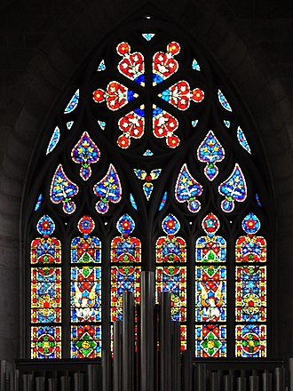 Augusto Giacometti - Stained glass window, created by Augusto Giacometti, in the Fraumünster church in Zürich