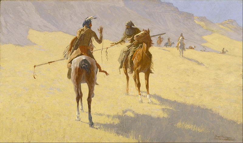 File:Frederic Remington - The Parley - Google Art Project.jpg