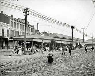 French Market - Image: French Market, New Orleans, 1910