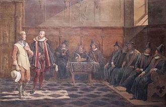 1522 in Sweden - Fresco 2 - Inför radet i Lübeck