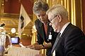 Frida Nokken, Radsdirektor Presidiet och Inge Loenning, Ordforande Presidiet under sessionens oppnande. (Bilden ar tagen vid Nordiska radets session i Oslo, 2003).jpg