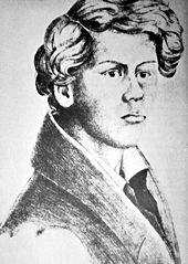 Fritz Reuter im Selbstbildnis, 1830 (Quelle: Wikimedia)