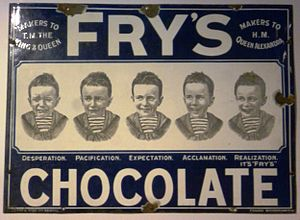 Chocolate bar - Image: Fry's Chocolate advertisement
