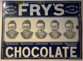 Candy bar - Fry's produced the first candy bar in 1847, which was then mass produced as Fry's Chocolate Cream in 1866.
