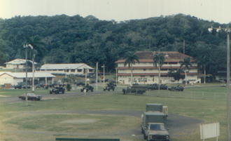 Fort Clayton - The Northwest corner of Fort Clayton in 1990, home at the time to the 534th MP Co., 154th Signal Bn, and the Southern Command Network radio and TV station.