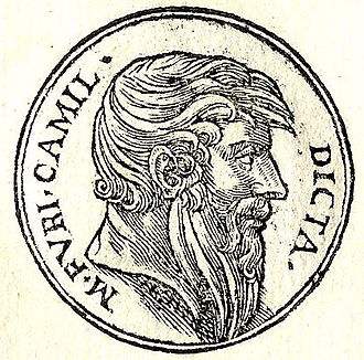 Marcus Furius Camillus - Marcus Furius Camillus from Guillaume Rouillé's Promptuarii Iconum Insigniorum