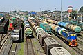 Güterzugverkehr im Frachtterminal, St. Petersburg, Russland.. 2H1A5597WI.jpg
