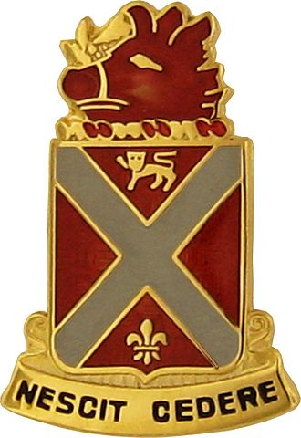 Army National Guard units with campaign credit for the War of 1812 - Distinctive Unit Insignia: 118 FA