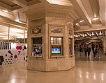 The Dining Concourse's octagonal stone information booth
