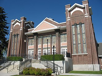 Garland, Utah - The Garland Tabernacle, an early Latter-day Saint meetinghouse