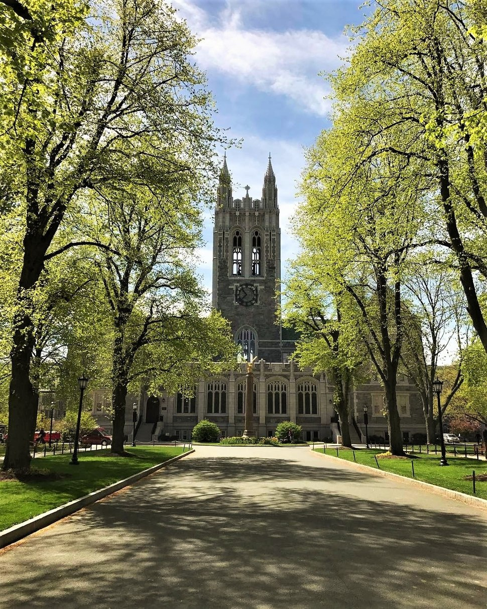 Gasson Hall in Spring