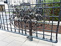 Gate by Guiseppe Lund, Westferry Circus Gardens in March 2011.jpg