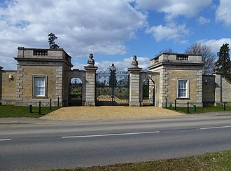 Uffington, Lincolnshire - Gate lodges to the former Uffington House