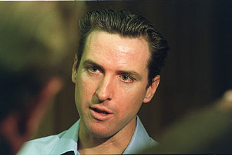 """San Francisco Proposition N (2002) - Gavin Newsom talks to the media about """"Care Not Cash"""" in 2003."""