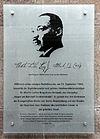 Gedenktafel Albrechtstr 8 (Mitte) Martin Luther King.jpg