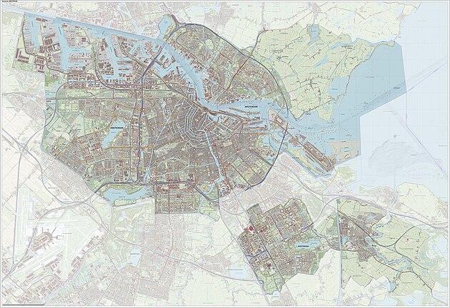 Plaatsen Rond Amsterdam.Amsterdam Gemeente Wikipedia