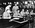 General Clark signs the Korean Armistice Agreement.jpg