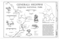 Generals Highway - Generals Highway, Three Rivers, Tulare County, CA HAER CAL,54-THRIV.V,2- (sheet 2 of 10).png