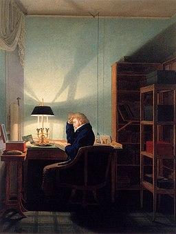 Georg Friedrich Kersting - Man Reading at Lamplight - WGA12122