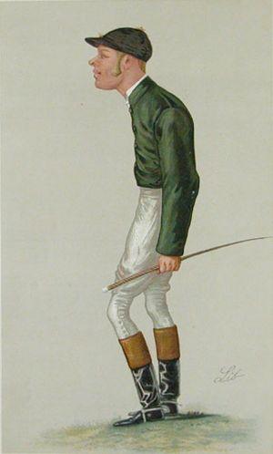 Merry Hampton - George Alexander Baird, Merry Hampton's owner, in his days as an amateur jockey.