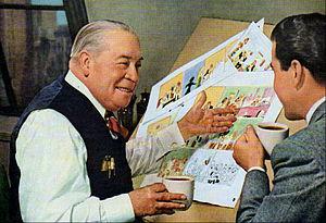 George McManus - McManus having a coffee in 1952