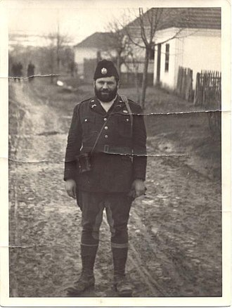 Office of Strategic Services - OSS 1st Lieutenant George Musulin behind enemy lines in German-occupied Serbia, as a Chetnik, during his first mission in November 1943. His second mission was Operation Halyard.